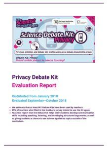 Privacy Debate Kit Evaluation Report Cover